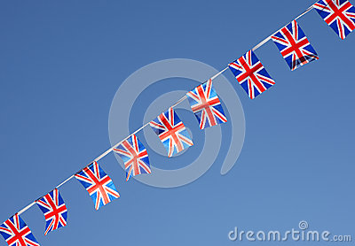 British Union Jack Flag Bunting Row