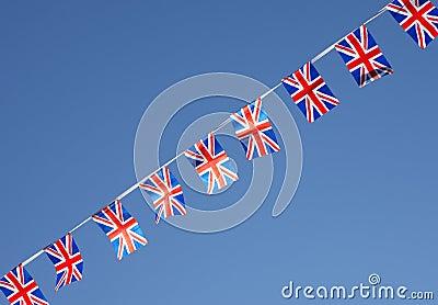 British Union Jack Flag Bunting Row