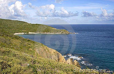 British Virgin Island shoreline