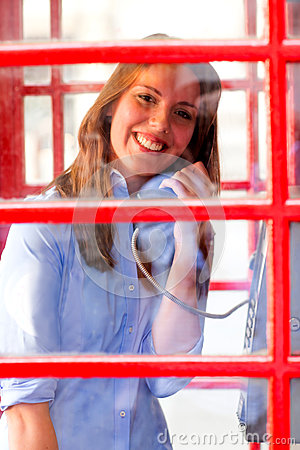 British woman talking on the phone