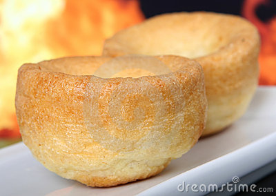 British yorkshire pudding, traditionally eaten with roast beef
