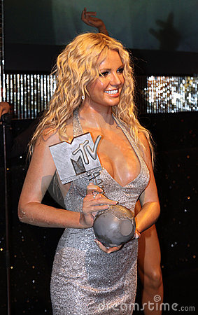 Britney Spears at Madame Tussaud s Editorial Image