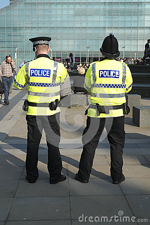 British Police Editorial Stock Image