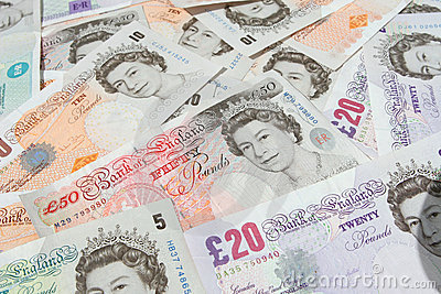 Britsh Pound Notes Currency Editorial Stock Photo