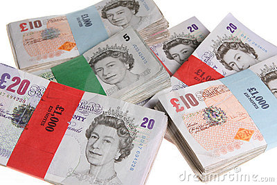 Britsh Pound Notes Currency Money