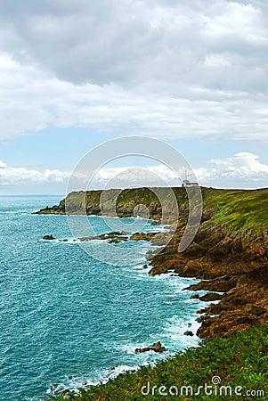 Brittany atlantycki wybrzeże