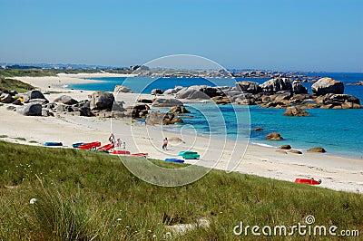 Brittany coast, france