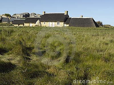 Brittany, Finistere, Kerlouan - Traditional house