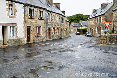 Brittany town Treguier, France