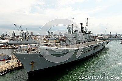 Brittiska krigsskepp Redaktionell Arkivbild