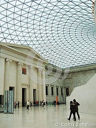 Brittiskt museum Redaktionell Arkivbild