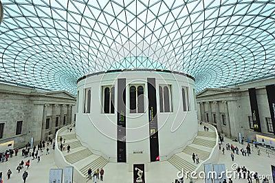 Brittiskt museum Redaktionell Fotografering för Bildbyråer
