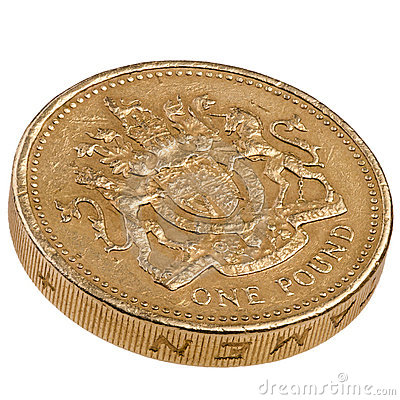Brittiskt mynt ett pund