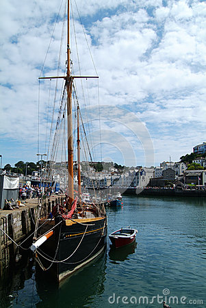 Brixham ship Editorial Stock Photo