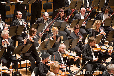 Brno Philharmonic Orchestra perform Editorial Stock Image