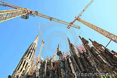 Broaches and spires, Sagrada Famila in Barcelona
