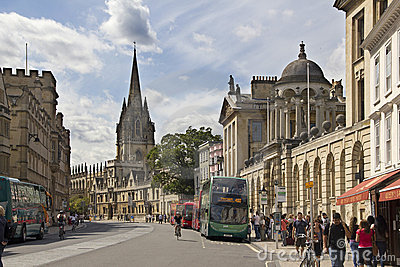 Broad Street in Oxford Editorial Photo
