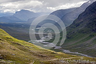Broad Valley with The Kungsleden Footpath