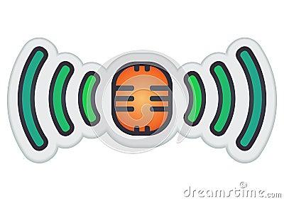 Broadcast button