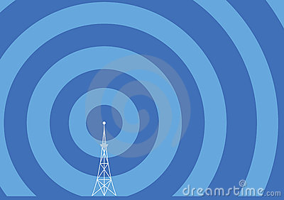 Broadcast tower illustration