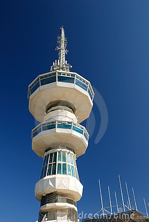 Free Broadcasting Tower In Thessaloniki (O.T.E. Tower) Stock Image - 17111791
