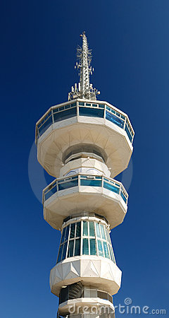Free Broadcasting Tower In Thessaloniki (O.T.E. Tower) Royalty Free Stock Photography - 18041387