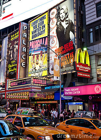Broadway Editorial Stock Photo