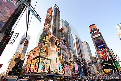 Broadway and 42nd Street Intersection Editorial Image