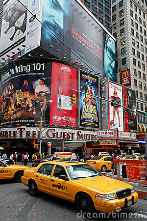 Broadway Avenue in New York Editorial Stock Photo