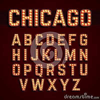 Free Broadway Lights Style Light Bulb Alphabet Royalty Free Stock Photo - 53827285
