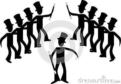 Broadway male line dancers...
