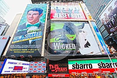 Broadway musicals Editorial Stock Photo