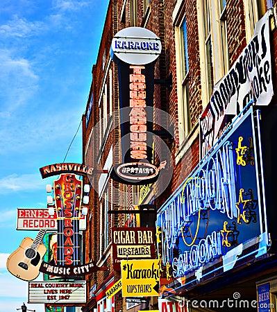 Broadway Nashville Editorial Image