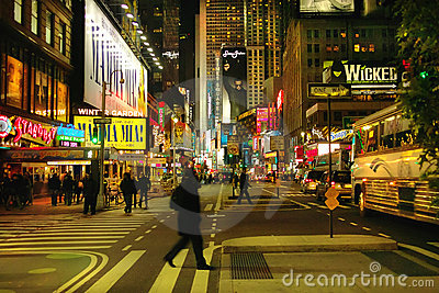 Broadway New York USA Editorial Stock Photo