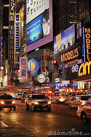 Broadway at  night Editorial Stock Photo