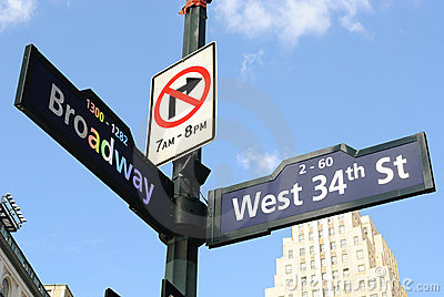 Broadway Road Sign