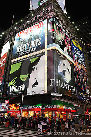 Free Broadway Show Advertisements Royalty Free Stock Image - 17188196