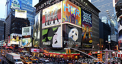 Broadway show advertisements Editorial Photography