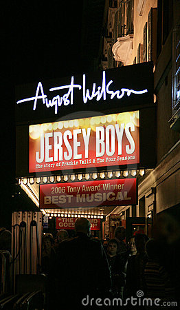 Broadway Show Sign Editorial Photography