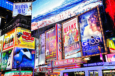 Broadway shows New York Editorial Stock Photo