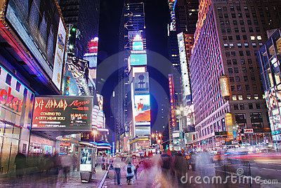 Broadway street view, New York City Editorial Image
