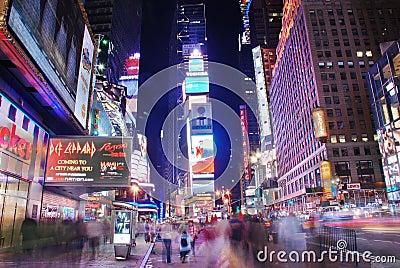 Broadway street view, New York City Editorial Image