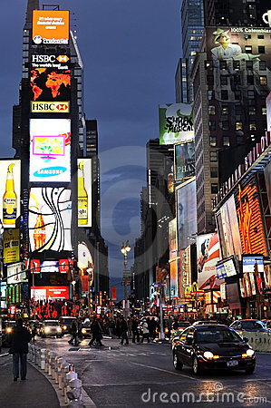 Broadway and Times Square Editorial Photo