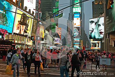 Broadway at Times Square, New York City, USA Editorial Photo