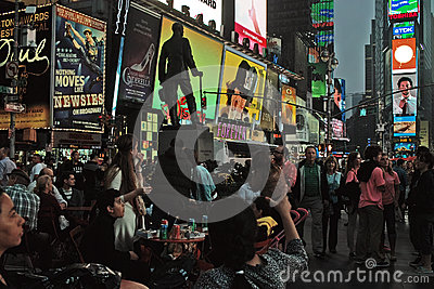 Broadway at Times Square New York City, USA Editorial Stock Image