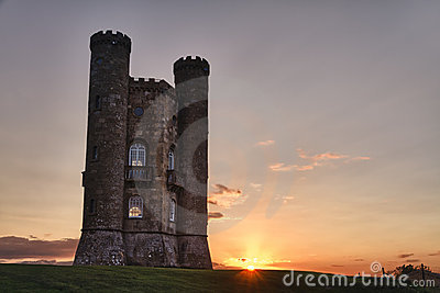 Broadway Tower at sunset Cotswolds, UK