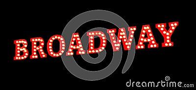 Broadway beleuchtet Zeichen
