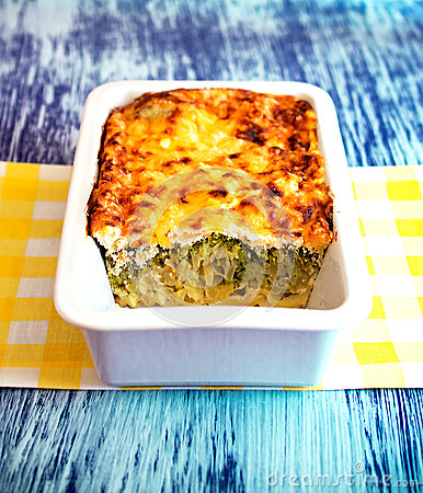 No-bake Vegetarian Lasagna With Vegetables Stock PhotoImage