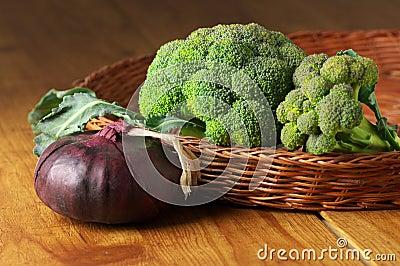 Broccoli in basket