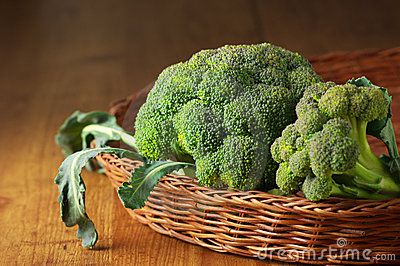 Broccoli in basket